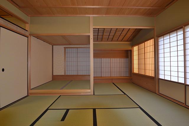 福岡 料亭 施工風景 室内木造作 建具 特注家具 平松装備株式会社