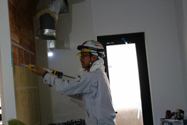ファースト城山施工現場風景 室内木造作 建具 特注家具 平松装備株式会社
